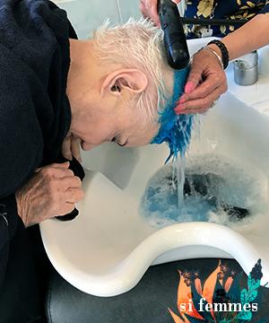 Couleur teinte cheveux bleus jacqueline Le Nedic Tavert - si femmes