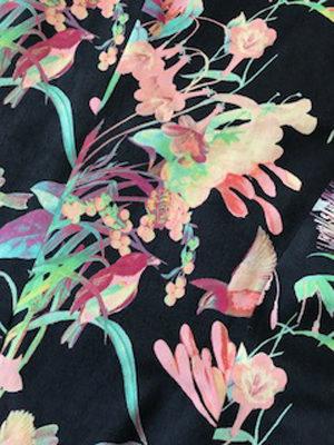 si femmes - motif imprimé tissus coloré fleurs et oiseaux