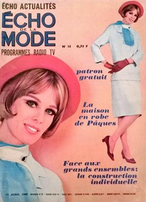 Couverture des echos de la mode - 1965