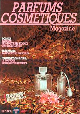 Parfuns Cosmétiques magazine La revue créée par Jacqueline Le Nedic - Tavert en 1980