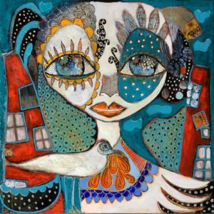 Peinture Clair de Nuit de Carole Jeulin