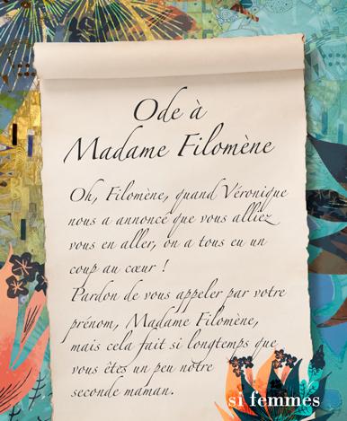 ODE à Madame Filomène