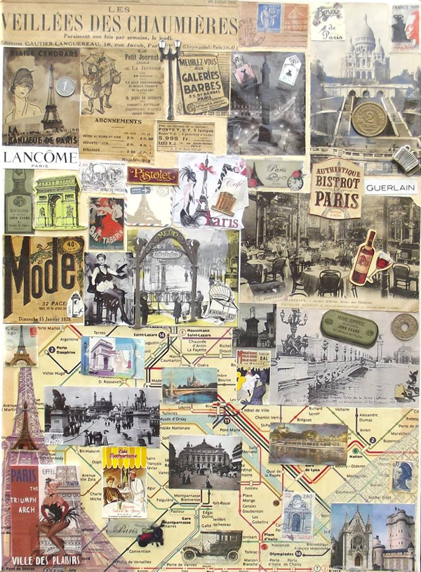 Paris 1920, Collage de Kelstena Cre'art