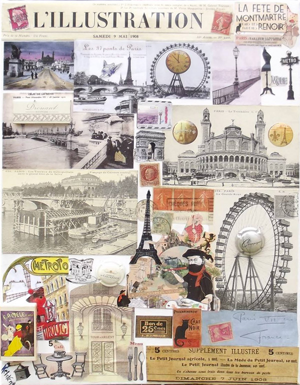 Paris l'Ilustration, Collage de Kelstena Cre'art